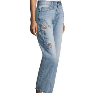 Current Elliot crossover embroidered jeans NWT BB2